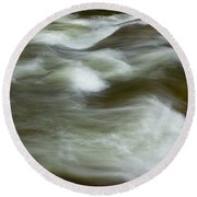 Round Beach Towel featuring the photograph The Action On Top by Mike Eingle