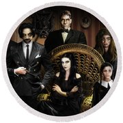 The Addams Family Round Beach Towel