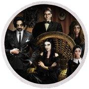 The Addams Family Round Beach Towel by Alessandro Della Pietra