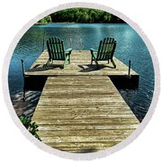 The Adirondacks Round Beach Towel