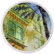 The Adrian Hotel South Beach Round Beach Towel by Jon Neidert
