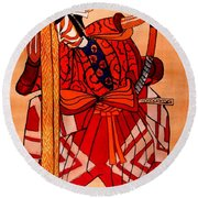 The Age Of The Samurai 04 Round Beach Towel
