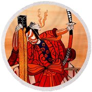 The Age Of The Samurai 04 Round Beach Towel