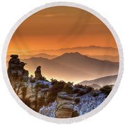 The Ahh Moment Round Beach Towel