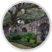 The Alamo Oak Round Beach Towel