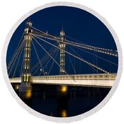 The Albert Bridge London Round Beach Towel