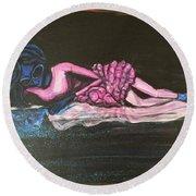 The Alien Ballerina Round Beach Towel