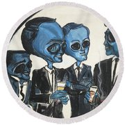 The Alien Rat Pack Round Beach Towel