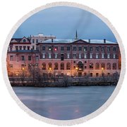 Round Beach Towel featuring the photograph The Allure Of Old by Everet Regal