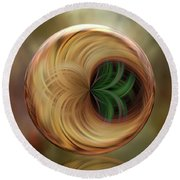 The Altar Orb Round Beach Towel by Judy Wolinsky