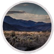 The American West Round Beach Towel by Peter Tellone