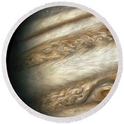 The Ancient Dance Of Europa And Jupiter Round Beach Towel