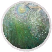 The Angel Of Growth Round Beach Towel by Annael Anelia Pavlova