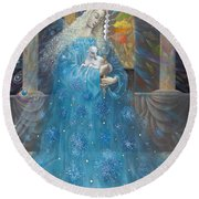 The Angel Of Truth Round Beach Towel
