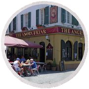 Round Beach Towel featuring the photograph The Angry Friar - Gibraltar by Phil Banks