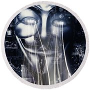 The Anonymous Eyes Of Civil Unrest Round Beach Towel