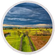 The Antietam Battlefield Round Beach Towel