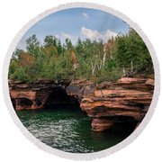 The Apostle Islands Round Beach Towel