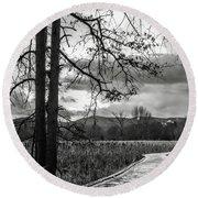 Round Beach Towel featuring the photograph The Appalachian Trail by Eduard Moldoveanu