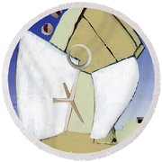 Round Beach Towel featuring the painting The Arc by Michal Mitak Mahgerefteh