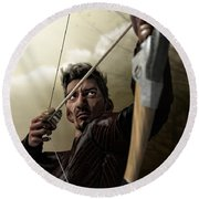 The Archer Round Beach Towel