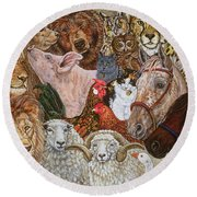 The Ark Spread Round Beach Towel by Ditz