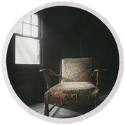 The Armchair In The Attic Round Beach Towel