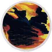 The Arrival Of The Wicked Round Beach Towel