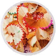 The Art Of Pencil Shavings Round Beach Towel