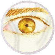 The Artist's Eye Round Beach Towel