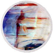 Round Beach Towel featuring the painting The Auberge by Dominic Piperata