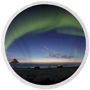 The Aurora Bow Round Beach Towel
