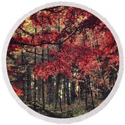 The Autumn Colors Round Beach Towel