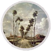 The Avenue At Middelharnis Round Beach Towel
