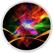 Round Beach Towel featuring the photograph The Awakening by Geraldine DeBoer