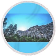 Round Beach Towel featuring the photograph The Awe- by JD Mims