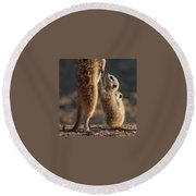 The Baby Is Hungry Round Beach Towel by Happy Home Artistry