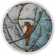 The Baby Robin Round Beach Towel by Patricia Arroyo