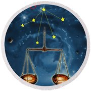 The Balance Of The Universe Round Beach Towel