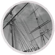 The Balclutha Caravel Round Beach Towel