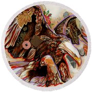 The Bald Eagle Round Beach Towel