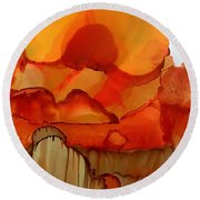 The Ball Of Fire Round Beach Towel