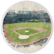 The Ballpark Round Beach Towel