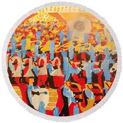 The Band Round Beach Towel by Rodger Ellingson