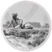 The Banks Of The Lower Ganges Round Beach Towel