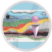 The Bannishment Of Evil Round Beach Towel