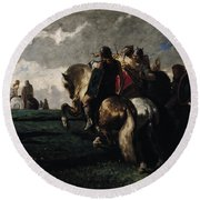 The Barbarians Before Rome Round Beach Towel