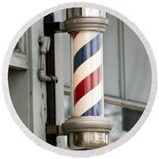 The Barber Shop 4 Round Beach Towel