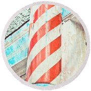 The Barber Round Beach Towel