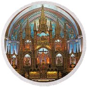The Basilica Round Beach Towel